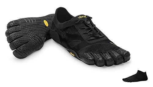 Vibram FiveFingers KSO EVO Men + Zehensocke 1105, Size:43;Color:Black
