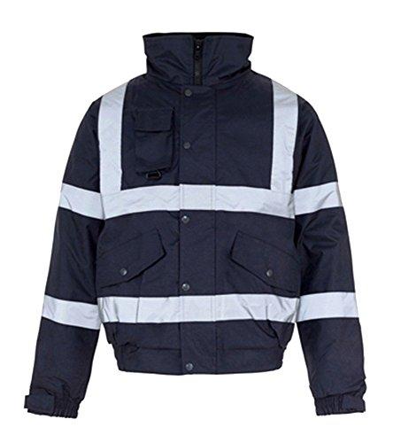 Fast Fashion - Jacket Hi Viz Bombardier De Sécurité Orage Étanche Padded Manteau De Vêtements De Travail Chaleureux - Mens