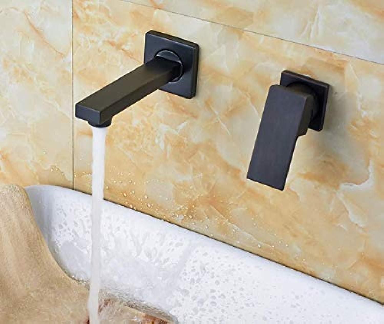 Becken Wasserhahnein Griff Zwei Loch Wandhalterung Becken Wasserhahn Massivem Messing Bad Toilette Waschbecken Mischbatterien Wasserhahn