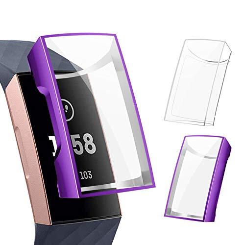 CAVN Pellicola Protettiva Compatibile con Fitbit Charge 4 Custodia Protettiva (2-Pezzi), TPU Ultra Sottile Protezione Completa Protettiva Antiurto Custodia Protettiva Cover Protettiva per Charge 4