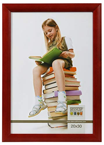 Promo Ideal Holz Bilderrahmen in viele Größen viele Farben Foto Rahmen: Farbe: Rot | Format: 18x24