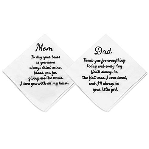 ECOHIP 2-Pack Wedding Handkerchief Embroidered Mother of The Bride...