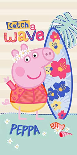 Setino Peppa Pig PP182012 George Catch a Wave - Toalla de playa (70 x 140 cm)