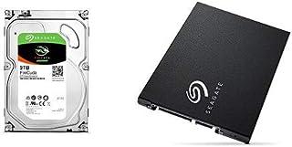 Seagate FireCuda 2TB ゲーム用  3.5インチ HDD 内蔵ハードディスク SATA + Seagate BarraCuda SSD 500GB SATA 6Gb/s 3D TLC