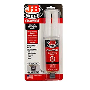 J-B Weld 50112 clair 25 ml Clearweld Quick-setting époxy Seringue