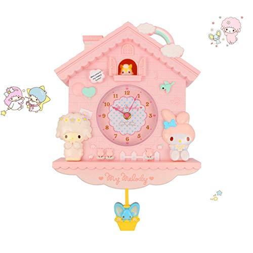 Cartoon Wanduhr Modernes Design Meine Melodie Schaukel Silent Schlafzimmer Liveroom Quarz Wanduhr Für Kinderzimmer Dekor-Pink, China
