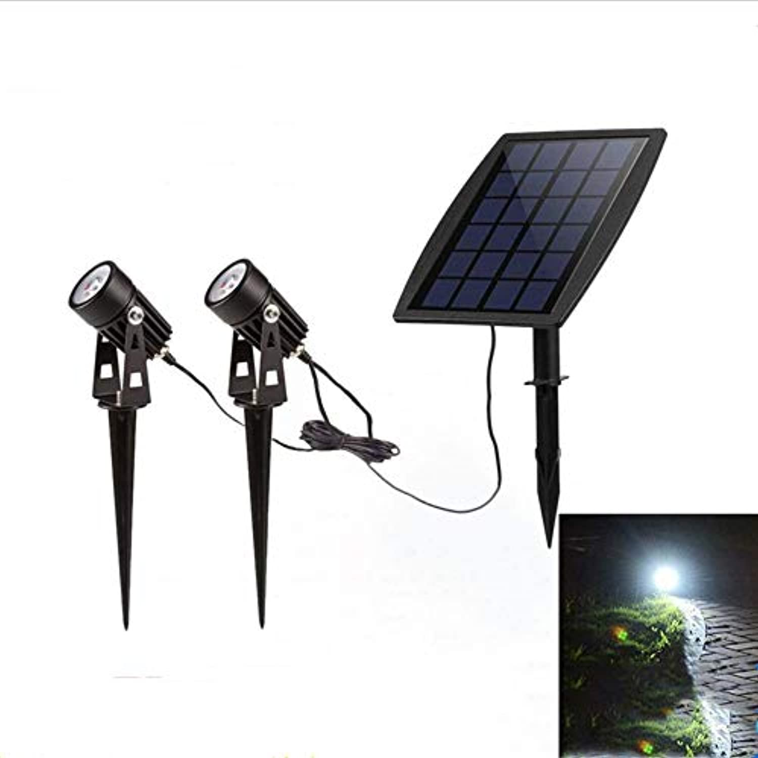 Fhlamp LED Solar Street Lamp, Outdoor Lighting, Landscape Courtyard Lamp, High Power Separate Lamp, Outdoor Tent Lamp, Outdoor Lighting Induction Lamp,Double ended Scheinwerfer