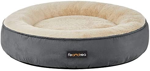 FEANDREA Dog Bed Donut Cat Bed Washable Pet Sofa Anti Slip Round 23 6 Inches Dia Dark Gray UPGW060G02 product image