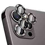 Hoerrye For Iphone 12 Pro Max Camera Lens Protector, Metal Full Cover + Tempered Glass Circle Screen Protection For Iphone 6.7'' - Graphite Black