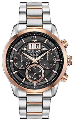 Bulova herenhorloge chronograaf kwarts horloge met roestvrij stalen armband 98B335