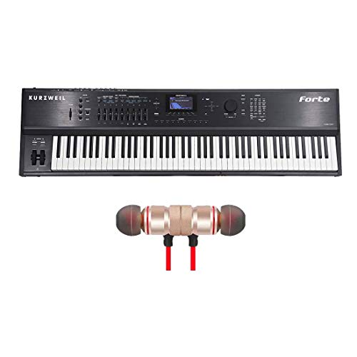 Read About Kurzweil Forte 88-key Stage Piano with Wireless Earbuds - Stereo Bluetooth In-ear