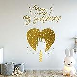 Letras de Pared Eres mi Sol Kindergarten Decorativo Pegatina de Pared Sala de Estar Dormitorio de bebé Mural Lindo Creativo jardín de Infantes 37x55cm