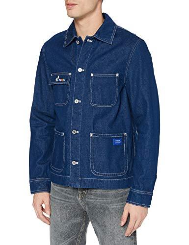 Scotch & Soda Mens Workwear-Jacke aus Denim 159555, 0089 Indigo, XL