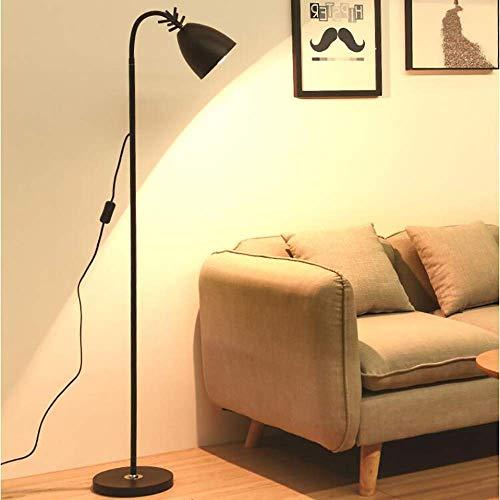 UWY Lámpara de pie Lámpara de Lectura de cabecera para Dormitorio, Sala de Estar Estudio Simple Lámpara Creativa Lámpara de Mesa Vertical con protección Ocular LED, B
