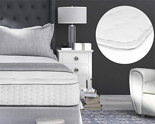 Topper, Optimaal Slaapcomfort, Matrasbeschermer, voor matrassen en boxsprings, 140x200, Wit