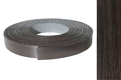 Kantenumleimer Melamin 22mm x 10m mit Schmelzkleber Eiche Wenge, mokka Dekor