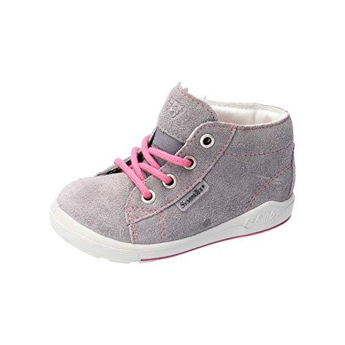 RICOSTA Pepino Fille Bottes, Boots ZAYNI, Lassie Chaussures bébé,Chaussure à Lacets,Largeur: Normale (WMS),Graphit/Rosa,27 EU / 9 Child UK