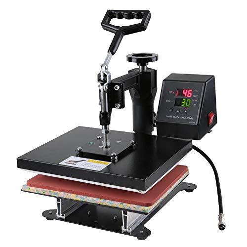 YCS Máquina de Prensa de Calor para Camisetas, máquina de Prensa de Calor de Camiseta Manual Digital de Doble Pantalla de Alta presión Enchufe de la UE 230 V