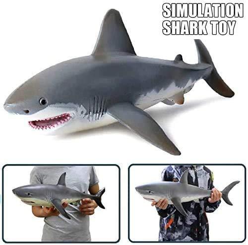 Lifelike Shark Shaped Toy, Realistic Motion Simulation Animal Model Best Gift for Kids (17CM)