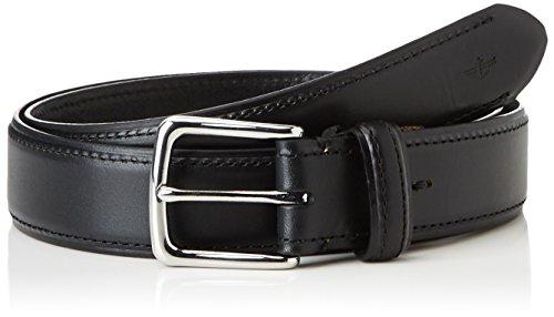 Dockers Iconic Clean Belt Cinturón, Negro (Black), 90 cm (Talla del Fabricante: 36) para Hombre