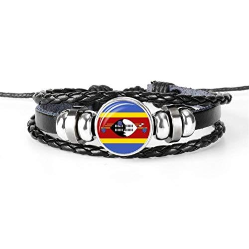 AMINIY Nueva Bandera De La Moda Pulsera Pulsera Hombres Y Mujeres Joyería De La Joyería De La Amistad Fútbol (Color : Swaziland)