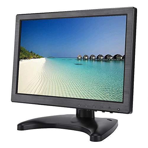 Goshyda Monitor para Juegos, 10.1 Pulgadas 400cd / m2 Brillo 1920 * 1200 FHD Pantalla LED LCD con entradas BNC AV VGA HDMI para Xbox para PS4 para Will(EU)