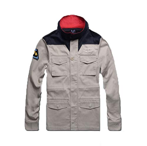 【Blue Hope】機動戦士ガンダム 風、地球連邦軍 ジャケット コート コスプレ 衣装 (S)