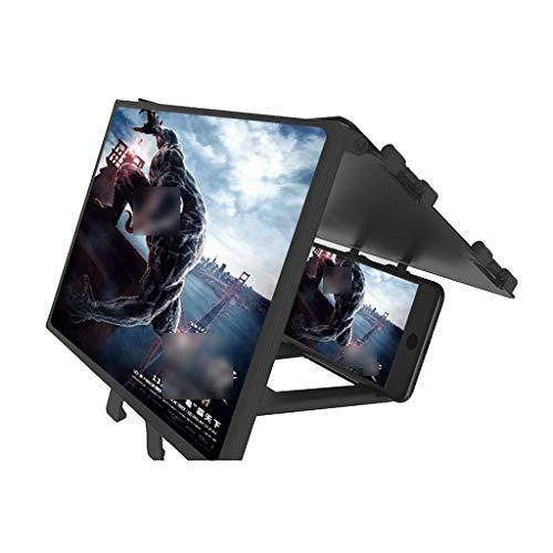 QFFL Bildschirmlupe Smartphone Bildschirm Die Bildschirmlupe Ist für Mobiltelefone Geeignet Ultraklarer Augenschutz Und Strahlenschutz Faltbarer Ständer mit Voller Abdeckung Video Frame Extender