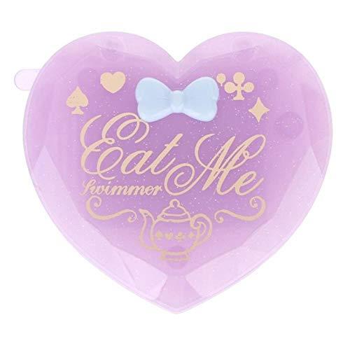 LASISZ Femmes Fille Brosse à Cheveux Pliante avec Miroir Compact Poche Format Voyage Peigne en Forme de Coeur Cadeau Mignon Mini Miroir de Poche, Violet