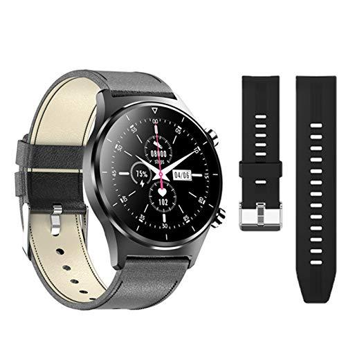 ZYDZ E13 Último Reloj Inteligente para iOS Android E13 Monitoreo De Tarifas Cardíacas Hombres Y Mujeres Deportes Smartwatch Pedómetro Pantalla Redonda Reloj Bluetooth,A