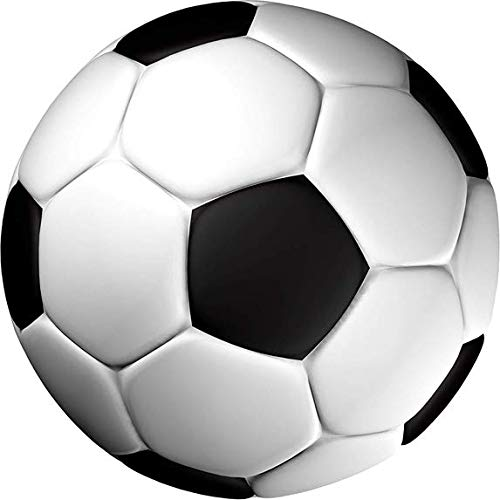 Tortenaufleger Fußball in 3D-Optik / 20 cm Ø