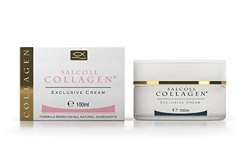 Salcoll Collagen - Anti-Aging Marine Collagen Face Cream - Firming Moisturizer for Fine Lines & Wrinkles, Day & Night Treatment, All Skin Types, 100 ml. Jar