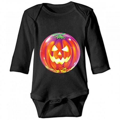 KioHp balloon Halloween Gas balloon food Calabaza Unisex baby ronde hals lange mouwen body, mode nonchalant baby klimpak zwart