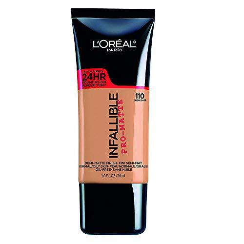L'Oreal Paris Cosmetics Infallible Pro-Matte Foundation Makeup, Creme Cafe, 1 Fluid Ounce by L'Oreal Paris