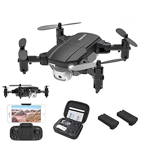 Mini Drone con Fotocamera Droni RC Pieghevoli per Adulti e Principianti, Drone Ultraleggero con Fotocamera 4K HD, Flip 3D, Wifi FPV, Luce LED, Doppia Fotocamera, Modalità Headless, Confezione da 2 Ba