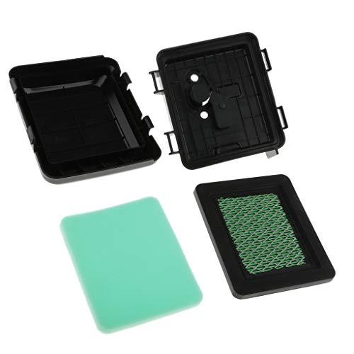 PETSOLA Filtro de Aire con Tapa y Caja Plástico para Hrb216 Hrs216 Hrr216 Hrt216 Cortacésped Honda Motor Gcv135 Gcv135a Gcv160