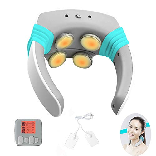WJQ Smart Wireless Neck Electric Massager, Alleviate Acute Pains and Muscle Soreness, Ergonomic Design, Safe and Convenient, Best Comfort