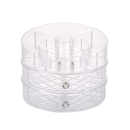 VanderHOME Beauty Organizer,Make Up Kosmetik Organizer, 360° Drehbar, Schmink Aufbewahrung Kosmetikbox für Dresser Schlafzimmer Badezimmer Transparenter Diamant