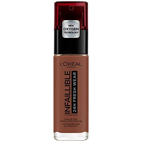 L'Oréal Paris Infaillible Fondotinta Liquido Coprente Lunga Tenuta 24 H, Formula Waterproof Idratante, 385 Cocoa