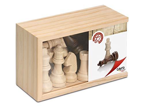 Cayro - Figuras de Ajedrez - Juego de Tradicional - Juego de Mesa - Desarrollo de Habilidades cognitivas - Juego de Mesa (615C)