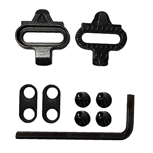 Liadance Grapa de Bicicletas Set Ciclo Universal Pedal Lock Kit SPD férula Ciclismo Equipo de Suministros al Aire Libre Ciclismo Ciclismo Negro