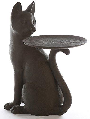 Casablanca 179732 bijzettafel Cat - kat - polyhars - donkerbruin