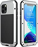 iPhone 11 Pro Max Case,Mangix Gorilla Glass Defender Military Grade Drop Protection, Shock Protection Luxury Aluminum Alloy Protective Heavy Duty Shell for Apple iPhone 11 Pro Max 6.5'' (Silver)