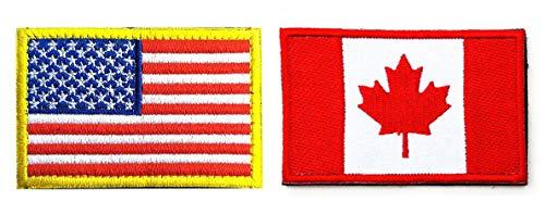 Antrix US-Flagge, kanadische Flagge, Patch, 2 Stück, amerikanische Flagge, Kanada, Militär, taktisches Emblem