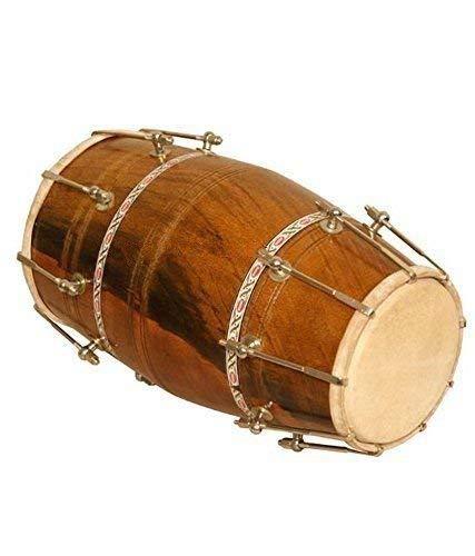 Bolt-Tuned Dholak, Sheesham Wood Carry Bag, Stimmschlüssel