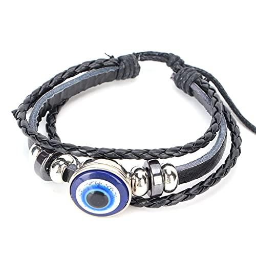 Pulseras Blue Evil's Eye Pulsera elástica con dijes para mujeres, niñas, hombres, joyería de protección, regalo de la suerte