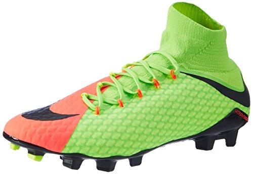 Nike Herren Hypervenom Phatal III DF FG Fußballschuhe, Mehrfarbig (Vert Électrique/Hyper Orange/vert Volt/Noir), 41 EU