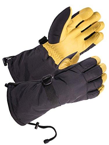 SKYDEER Waterproof Cold Weather Deerskin Leather Winter Ski Gloves (SD8648T/L)