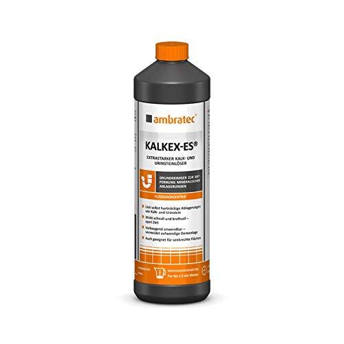 Ambratec Kalkex ES extrastarker Reiniger gegen Kalk Urinstein Wasserstein Konzentrat Entkalker Urinsteinlöser Kalk Entferner