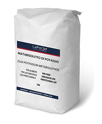 Lafood POTASSIO METABISOLFITO 1 kg - Potassium METABISULPHITE - Vino ENOLOGIA SANITIZZANTE